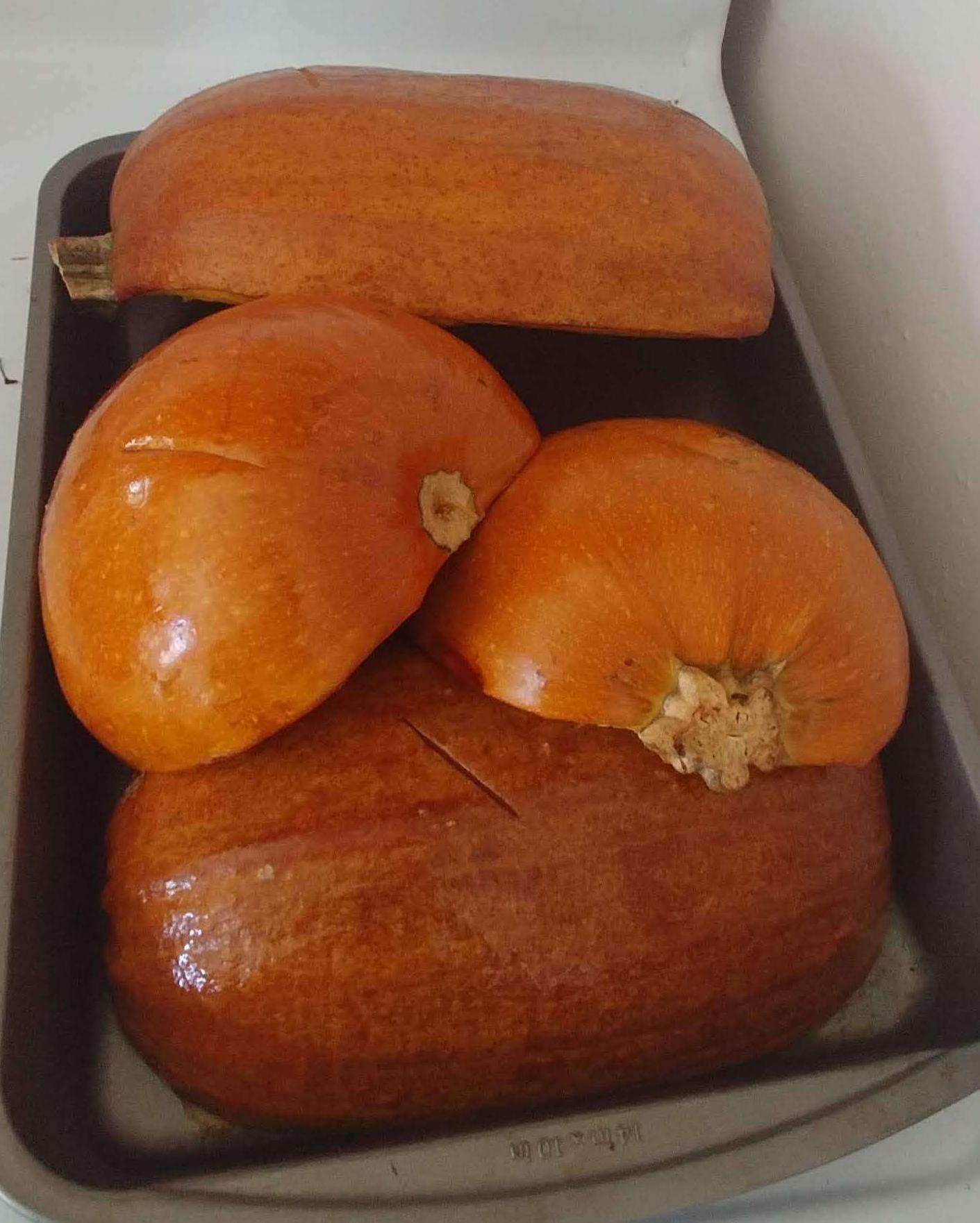 Roasted pumpkins