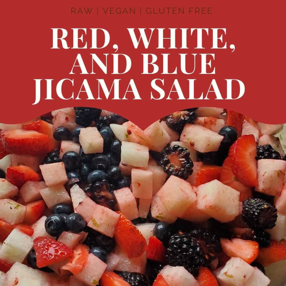 Red, White, and Blue Jicama Salad
